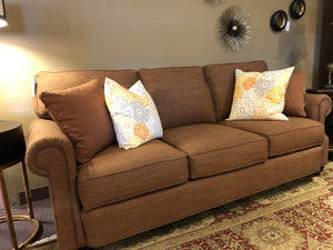 1487-Sofa with Rust Color 