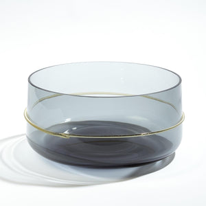 Charming Ribbon Wrapped Clear Grey Bowl