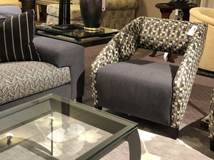 Upholstered Contemporary Grey Chair