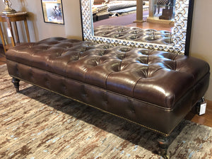 Leather Tufted / Brown