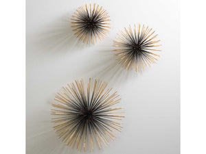Boom Wall Sculpture Brass