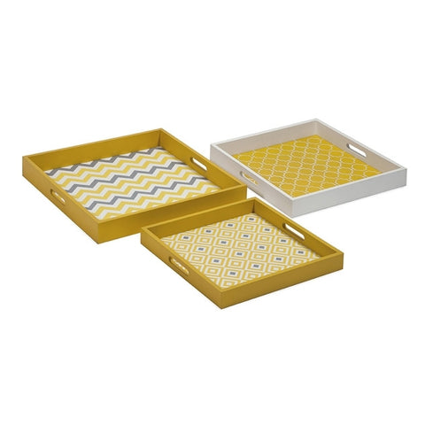 544-Essentials Graphic Yellow Trays - Large-Trays