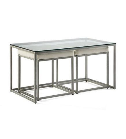 593-Coctail Nesting Bench Table-Nesting Table
