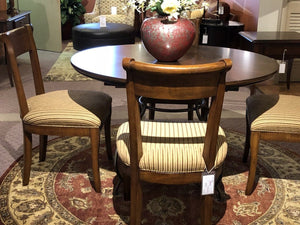 5 Piece Dinning Table Set Round with 4 Chairs - Furniture - orientalrugpalace