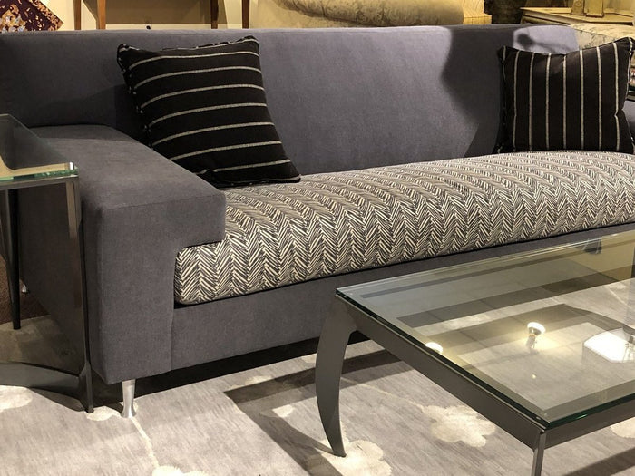 Contemporary Upholstered Sofa - Grey