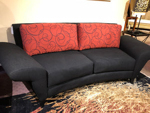 Bentley Apartment Modern Sofa Fabric: Ruby Onyx