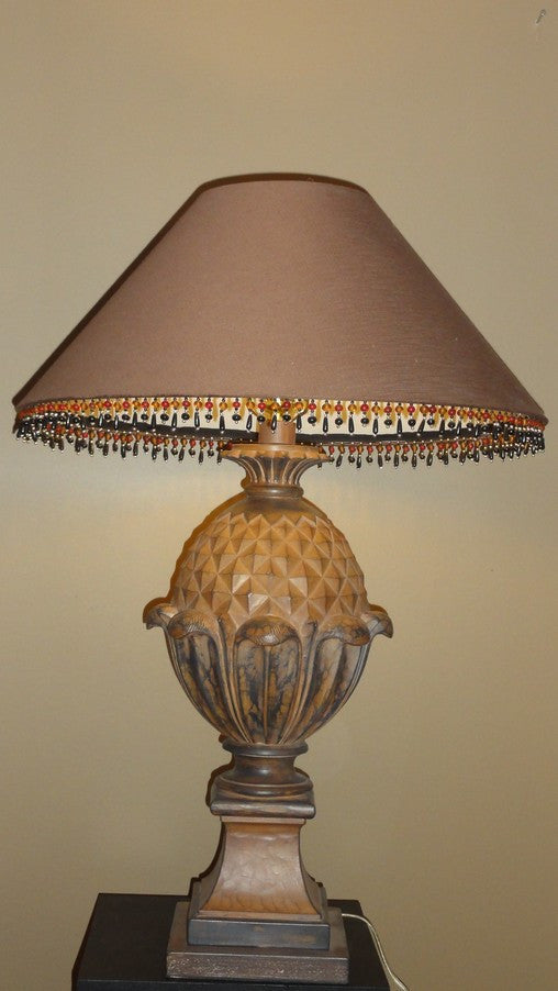 Lamp pineapple in wood tones