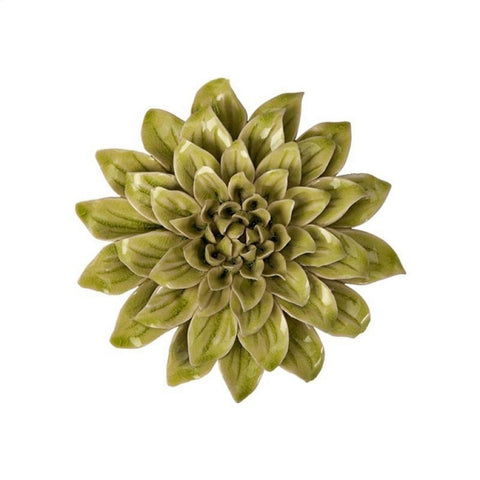 7881-Isabella Small Ceramic Flower-Wall Decor