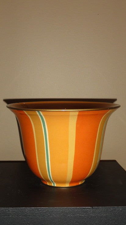 Orange Bowl with Vertical Stripes