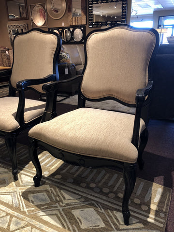 995-Black Licorice Beige Side Linen Chair-Accent Chair