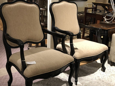 Accent Chairs Wood Frame with Taupe - Accessory - orientalrugpalace