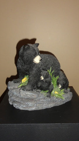 997-Black Bear Family-Sculpture