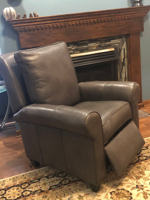 Motorized Leather Recliner Brown