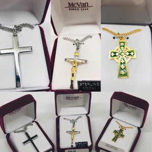 Crucifix and Cross Medals for Dad