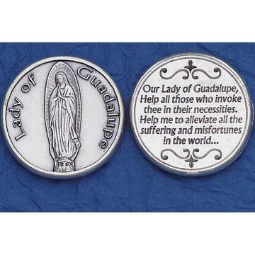 Our Lady of Guadalupe Italian Pocket Token Coin - Unique Catholic Gifts
