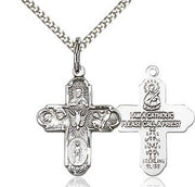 Sterling Silver 5-Way Cross 3/4""