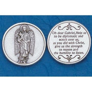Archangel Gabriel Italian Pocket Token Coin - Unique Catholic Gifts