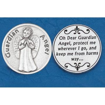 Guardian Angel Italian Pocket Token Coin - Unique Catholic Gifts