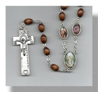 Brown Stations of the Cross Rosary (Handmade)