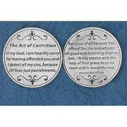 Act of Contrition Italian Pocket Token Coin - Unique Catholic Gifts