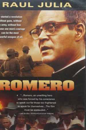 Romero  starring Raul Julia DVD - Unique Catholic Gifts
