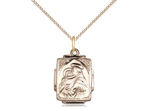 14kt Gold Filled St Anthony Pendant on a 18 inch Gold Filled Light Curb Chain. - Unique Catholic Gifts