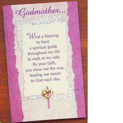 Godmother Dove and Heart Pin - Unique Catholic Gifts