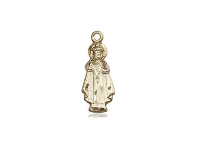 14kt Gold Filled Infant of Prague Pendant on a 18 inch Gold Filled Light Curb Chain - Unique Catholic Gifts