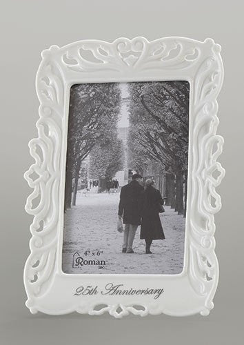25th Wedding Anniversary Frame for a Photo 4x6