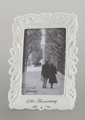 25th Wedding Anniversary Frame for a Photo 4x6 - Unique Catholic Gifts