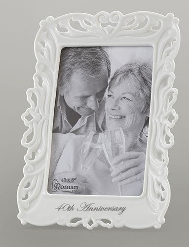 40th Wedding Anniversary Frame Photo 4x6 - Unique Catholic Gifts