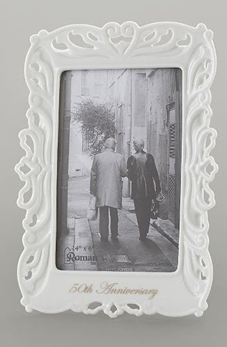 50th Wedding Anniversary Frame Photo 4x6