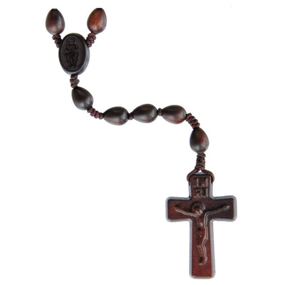Teardrop Jujube Wood Rosary (10 mm) - Unique Catholic Gifts