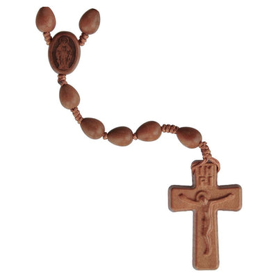 Teardrop Light Jujube Wood Rosary(10 mm) - Unique Catholic Gifts