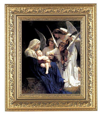 Bouguereau: Heavenly Melodie in Gold Leaf Antique Frame