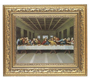 The Last Supper (Genuine Gold Leaf Wood Frame - Unique Catholic Gifts