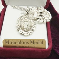 Silver Miraculous Medal-Two Part Slide Gift Set - Unique Catholic Gifts