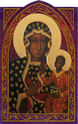 Czestochowa Holy Card (embossed) - Unique Catholic Gifts