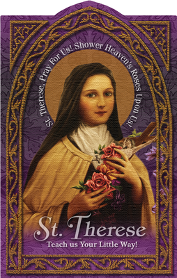St. Therese Holy Card (embossed)