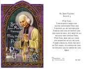 St John Vianney Holy Card (embossed)