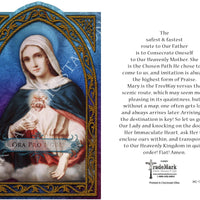 "Ora Pro Nobis ""Pray for Us""   Immaculate Heart of Mary Holy Card (embossed) - Unique Catholic Gifts"