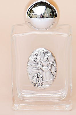 Guardian Angel Holy Water Glass Bottle - Unique Catholic Gifts