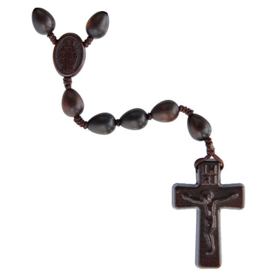 Teardrop Jujube Wood Rosary (12 mm) - Unique Catholic Gifts