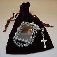 Saint Benedict Glass Rosary - Unique Catholic Gifts