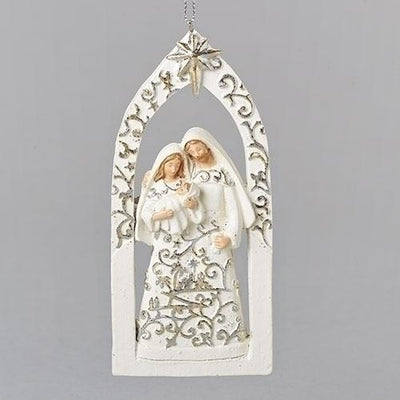 Holy Family Gold Leaf Papercut Ornament (5.5