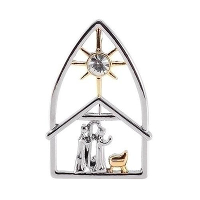 Nativity Pin - Oh Holy Night - Unique Catholic Gifts