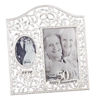 "9.25""H 50th Anniversary Frame - Unique Catholic Gifts"