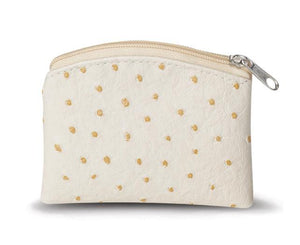 Beige Ostrich Skin Pattern Rosary Pouch - Unique Catholic Gifts
