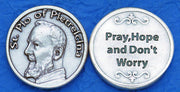 St. Padre Pio Italian Pocket Token Coin - Unique Catholic Gifts