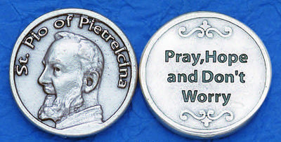 St. Padre Pio Pocket Token made in Italy